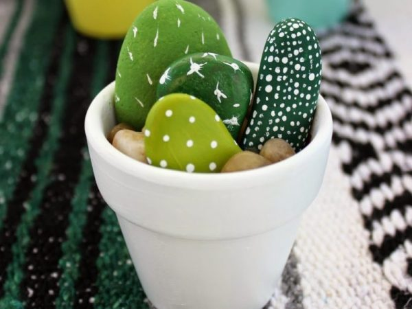 Cactus Garden paint rocks