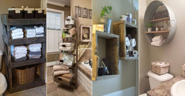 Rustic Storage bathroom ideas
