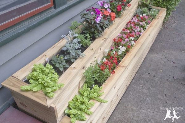 Tiered Planters flowers