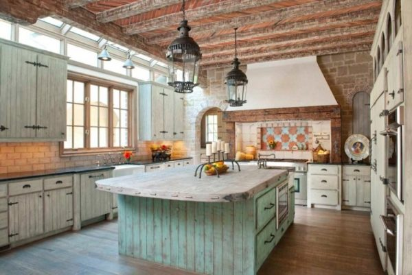 country kitchen ideas for small kitchens Rustic Details
