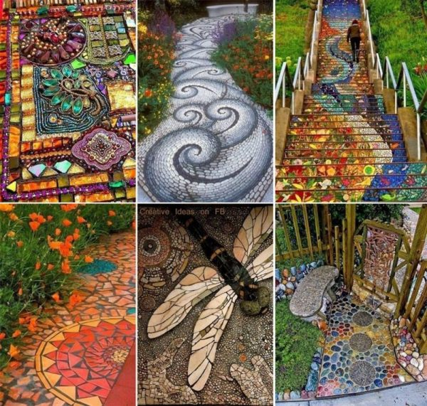 easy landscaping ideas for front of house Mosaic Pathways