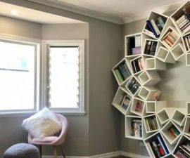 diy bookshelf ideas & Plant