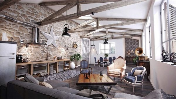 living room decor ideas Rustic