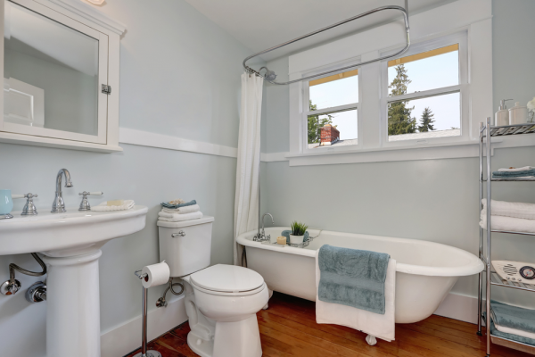 Timeless Touch with a Pedestal Sink