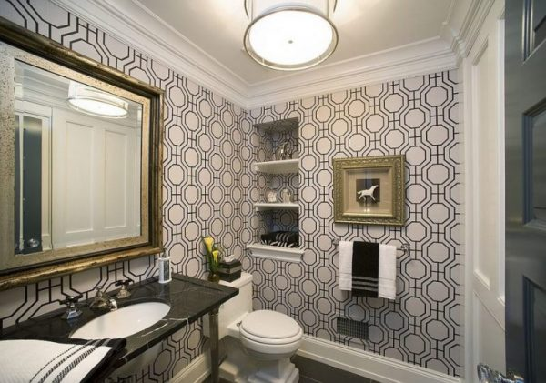 Bathroom Wall Decor Framed Wallpaper