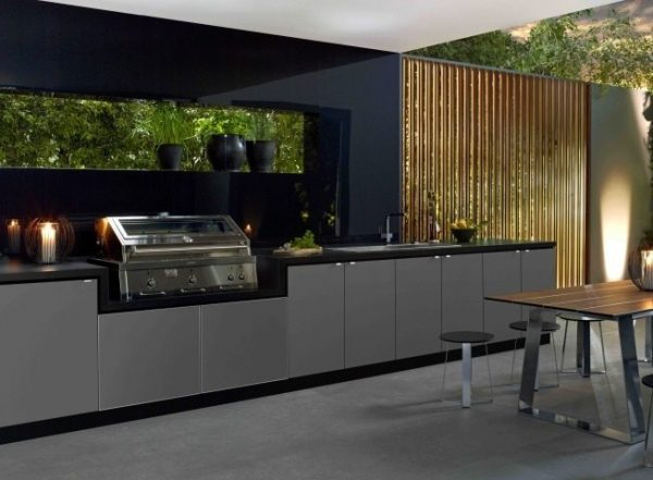 Black outdoor kitchen ideas pinterest