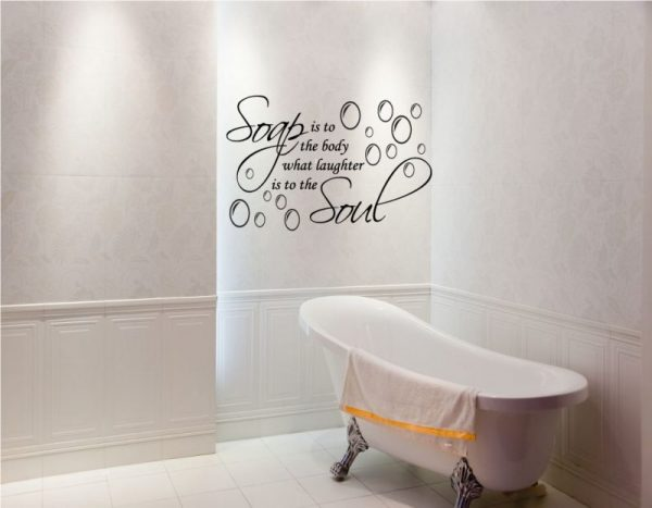 bathroom wall pictures ideas Vinyl Wall Decal