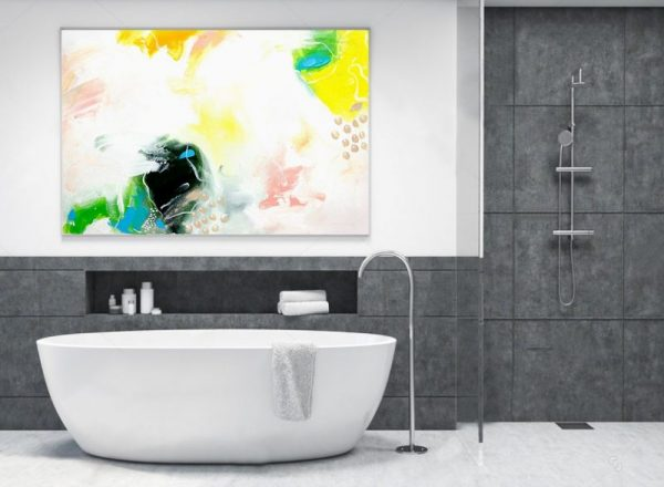 bathroom wall decor pinterest Abstract Wall