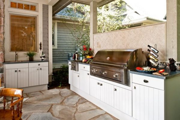 outdoor kitchen ideas on a budget Weather-resistant Cabinets
