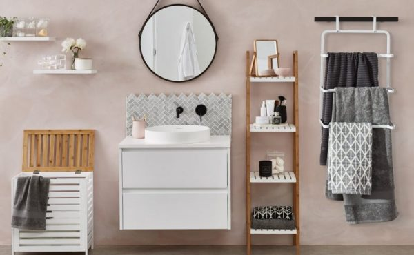 small bathroom ideas pictures Tall Tiered Storage