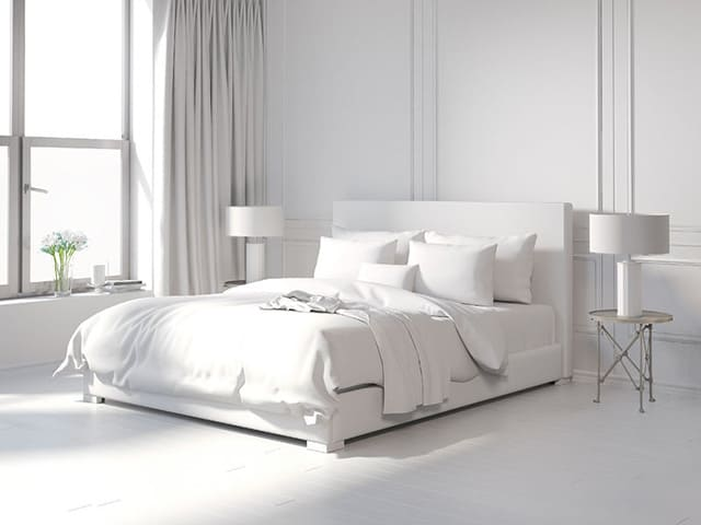 minimalist bedroom Ideas A Whole Lot of White