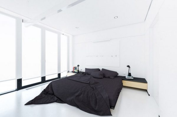 minimalist bedroom design Black & White