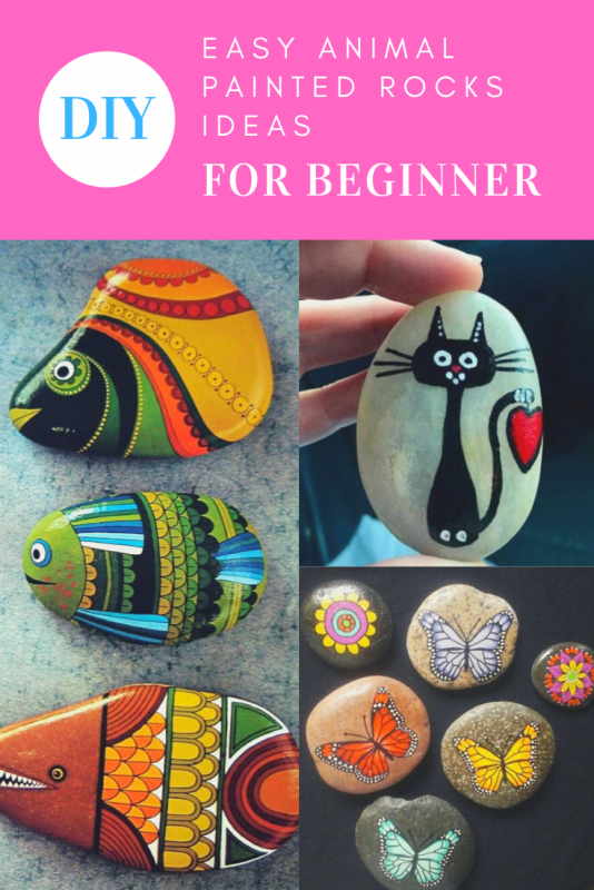 DIY Easy Animal Painted Rocks Ideas to Make Nice Painters Stone Art For Beginner
