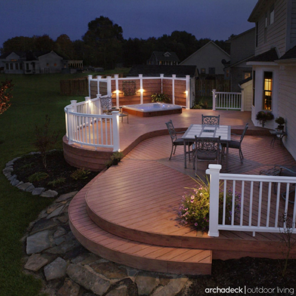 Deck Ideas With Lights Retreat