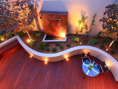 Deck Lighting Ideas & plant