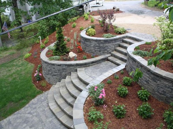 Retaining Walls backyard