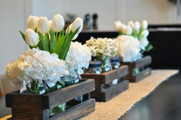 Rustic Crate Centerpiece
