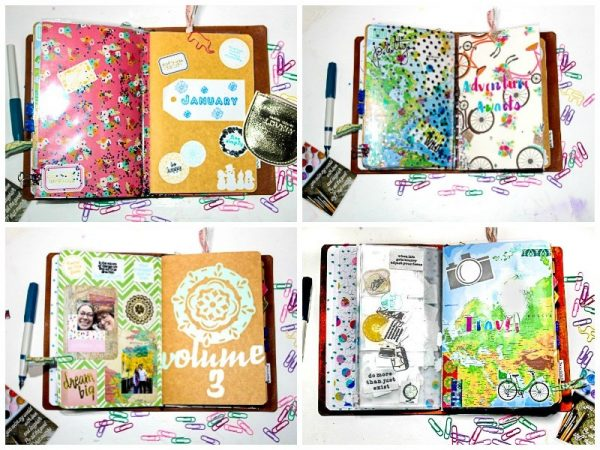 Vibrant Watercolor Splashes journal ideas