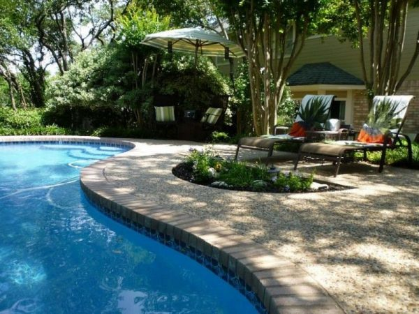 backyard landscaping ideas With Swimming Pool