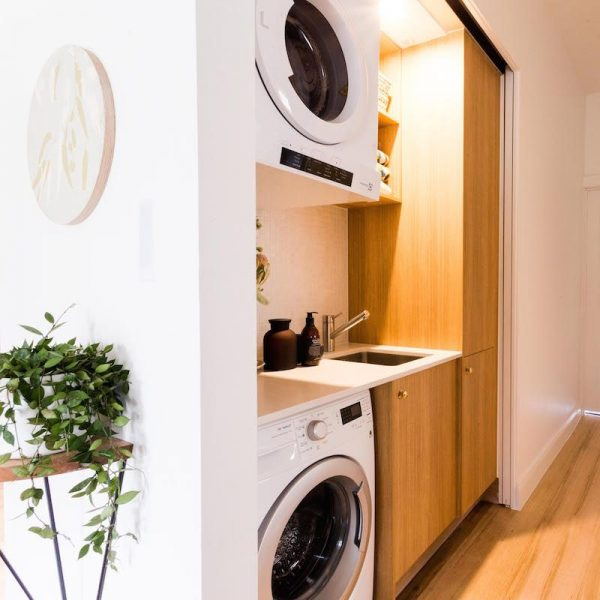 basement laundry room ideas Hide it Away