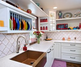 clever storage ideas for small kitchens Backsplash Shelves