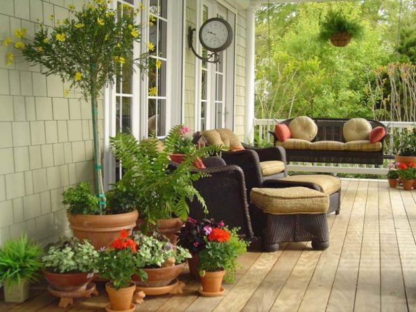 front porch decor ideas Pick Colorful Furniture