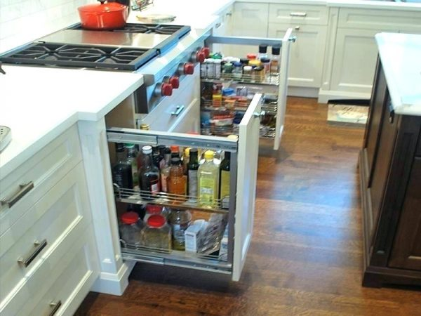 10 Unique Clever Kitchen Storage Ideas For Small Spaces Selves Cabinets Organizing Diycorners Com