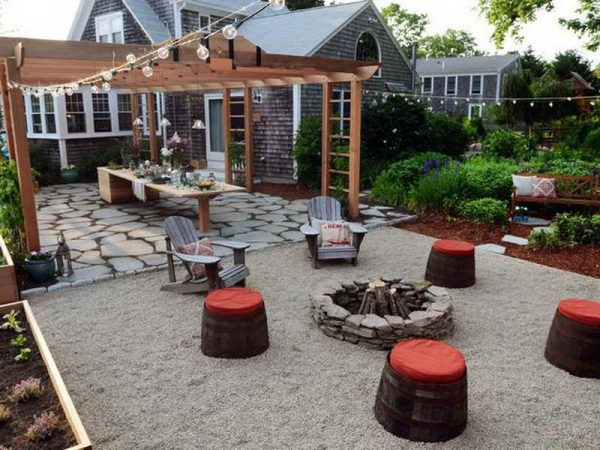 pergola plans with firepit