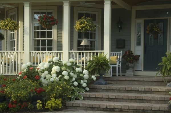 simple porch designs Frame with Flowers