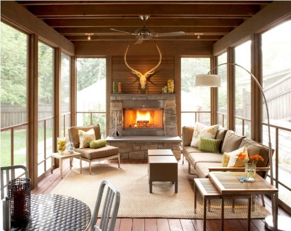 small front porch decorating ideas Warm Woods