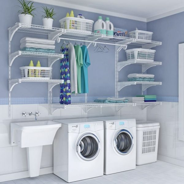 small laundry room organization ideas Double the Function